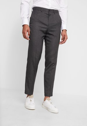 STAND ALONE TEXTURE - Suit trousers - grey