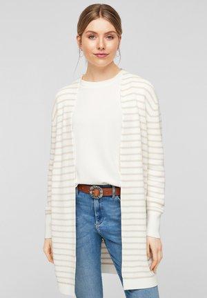 Cardigan - beige stripes