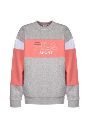 LANA CREW  - Sweatshirt - light grey melange bros / shell pink / bright white