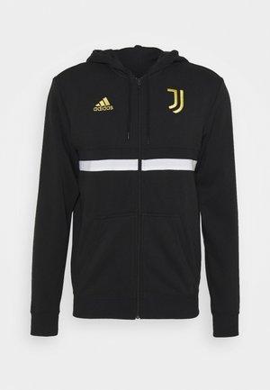 JUVENTUS SPORTS FOOTBALL HOODED JACKET - Klubové oblečení - black/white/pyrite
