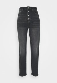 MOM HIGH RISE  - Džíny Relaxed Fit - black comfort