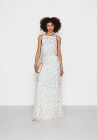 Maya Deluxe - ALL OVER EMBELLISHED HIGH NECK MAXI DRESS - Suknia balowa - ecru - 1