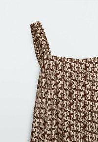 Massimo Dutti - Maxi dress - brown - 5