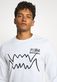Puma - HOOPS PULL UP TEE - Long sleeved top - white - 4