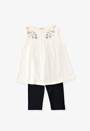 2 SET - Leggings - Trousers - off white/black