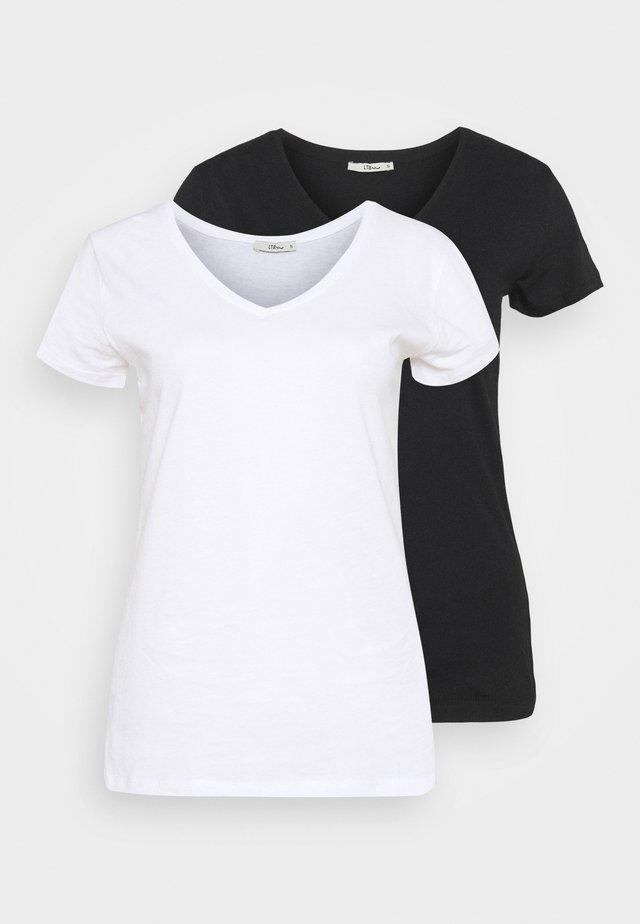 FASOMA2 PACK - Jednoduché triko - white/black