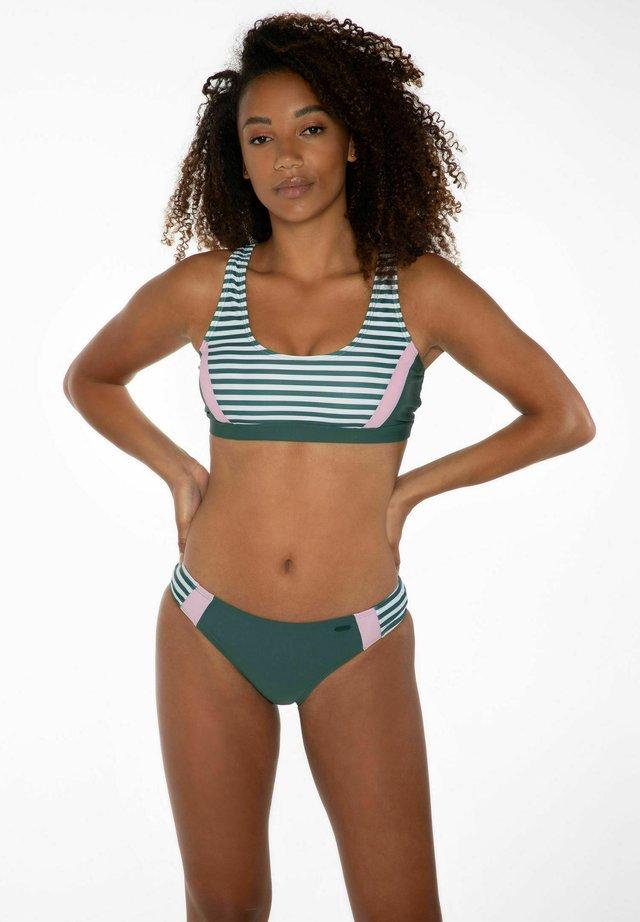 BOAS - Bikini - evergreen, white, pink