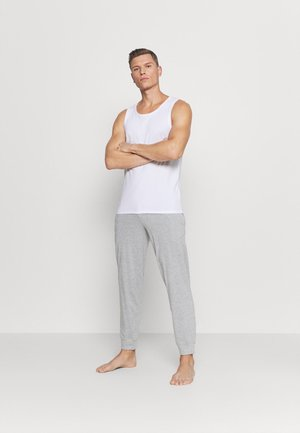 2 PACK - Pyjamasbukse - mottled dark grey/mottled grey