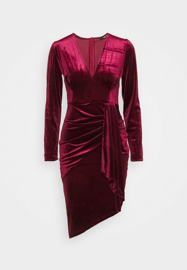 RHYS MIDI DRESS - Cocktail dress / Party dress - burguny