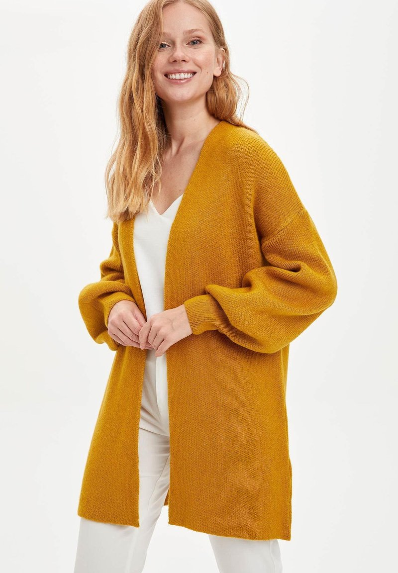 DeFacto - Cardigan - yellow
