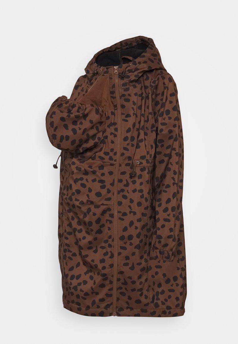 MAMALICIOUS - MLELLA JACKET - Zimní bunda - friar brown/black