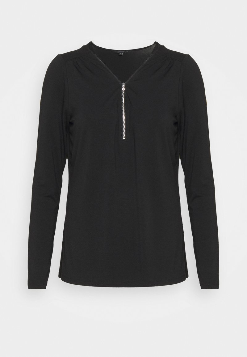 comma - Long sleeved top - black
