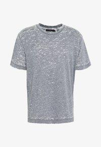 AllSaints - TRINITY CREW - T-shirts basic - blue mouline - 0