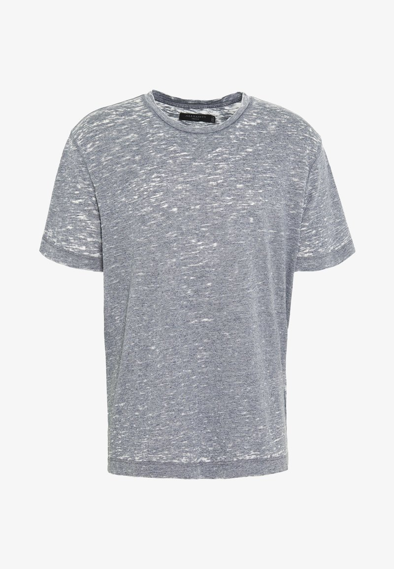 AllSaints - TRINITY CREW - T-shirts basic - blue mouline