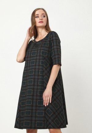 ASIDA - Jersey dress - schwarz, grün