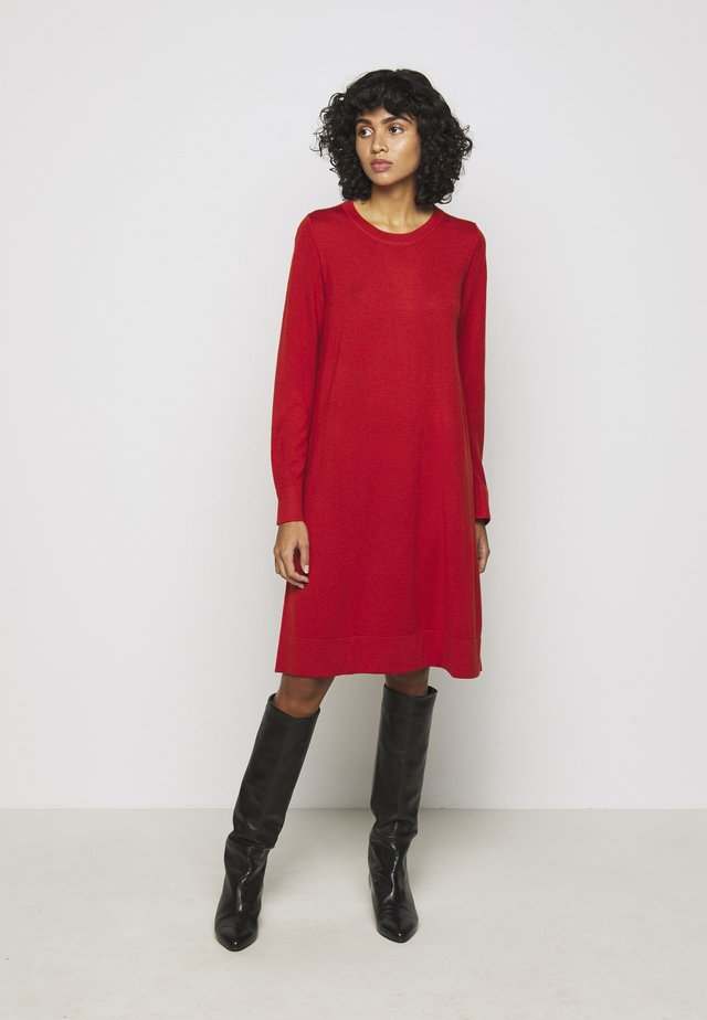 CREW NECK DRESS - Jumper dress - red