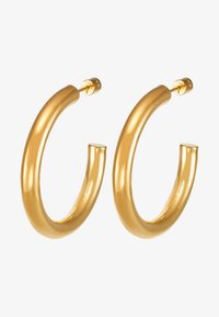BASIC LARGE HOOP EARRINGS - Earrings - gold-coloured