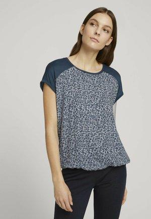 T-shirt basic - blue offwhite minimal