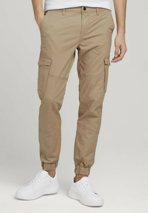 Cargo trousers - smoked beige