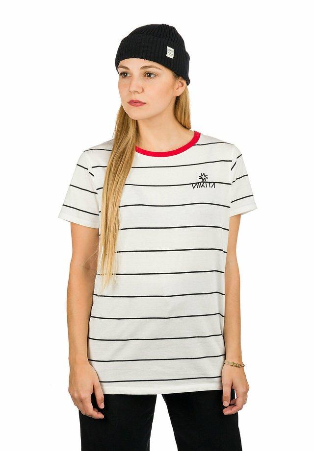 TRANSIENT  - Print T-shirt - white