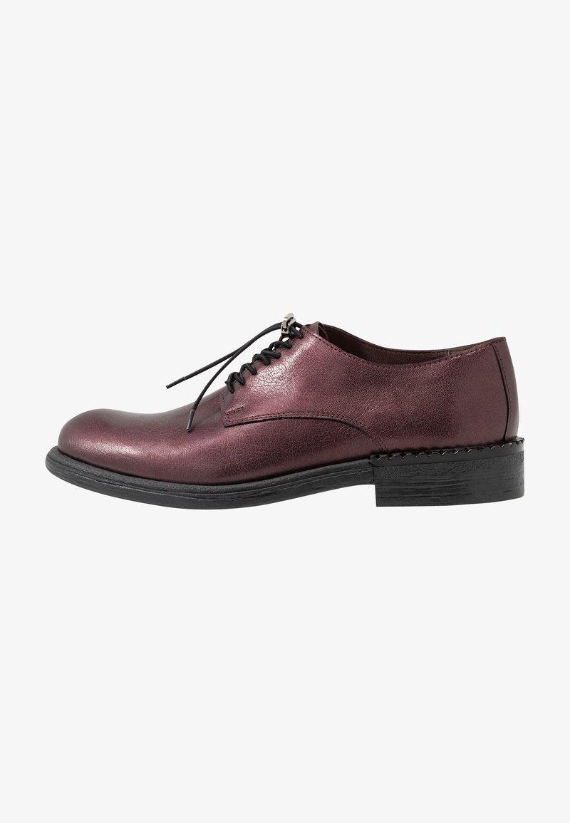 MJUS - Šněrovací boty - wine/plum