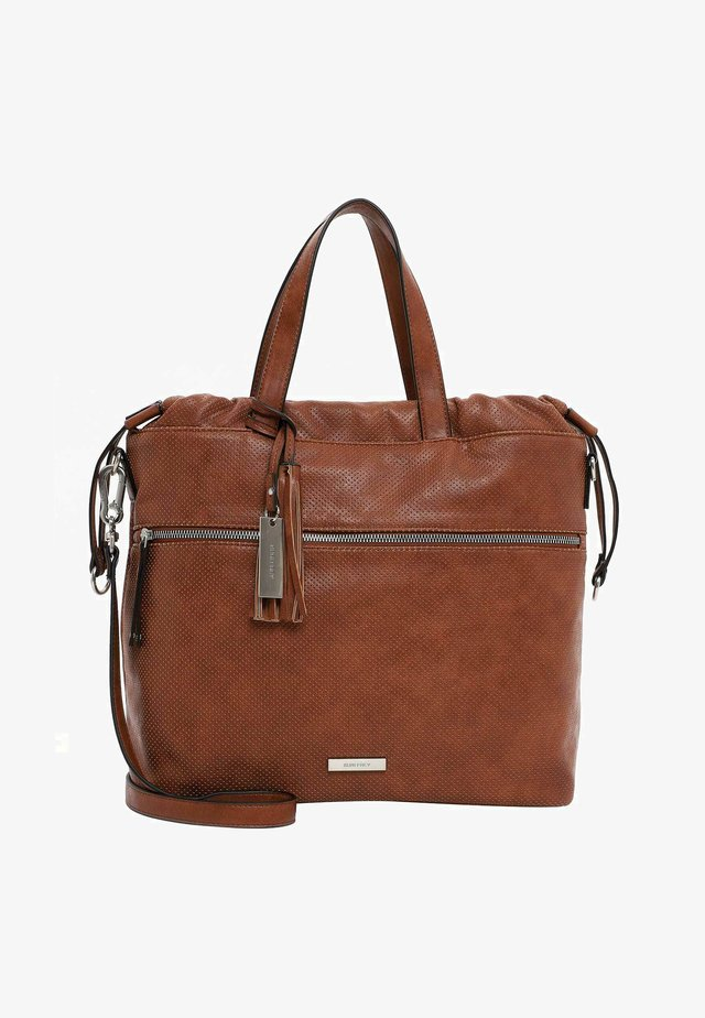 FRANZY - Shopping bag - cognac