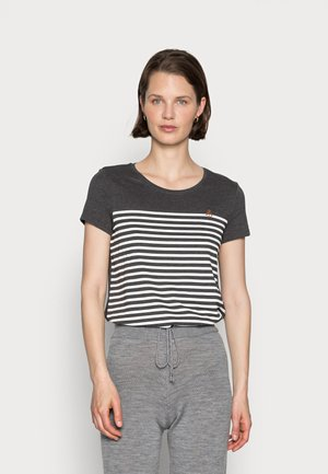 WITH EMBRO - T-shirt con stampa - shale grey melange