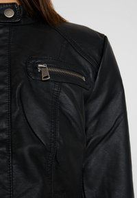 ONLY - BANDIT BIKER - Veste en similicuir - black - 5