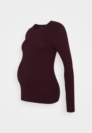 JUMPER CREW  - Jumper - dark burgundy