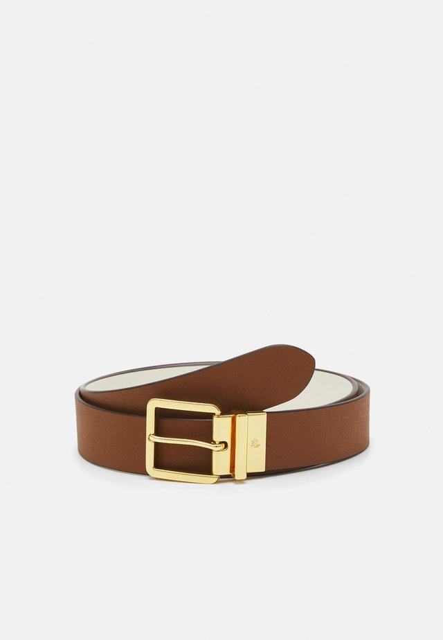 CROSSHATCH SMOOTH SQUARE - Riem - tan/vanill