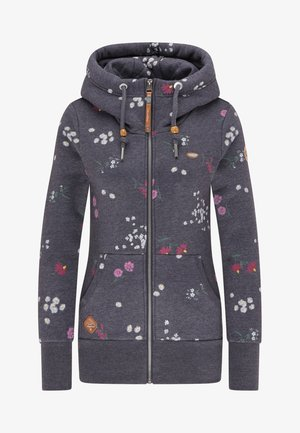 NESKA FLOWERS - Zip-up hoodie - navy