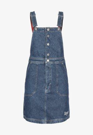 CROSSBACK  - Denim dress - mid blue