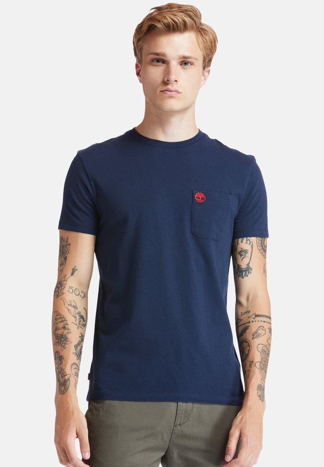 SS DUNSTAN RIVER POCKET TEE - T-shirt basic - dark sapphire