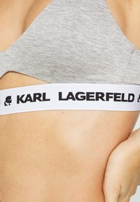 KARL LAGERFELD - LOGO PEEPHOLE BRALETTE - Triangel BH - heather grey - 5