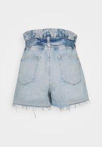 AllSaints - HANNAH PAPERBAG - Denim shorts - mid indigo - 1
