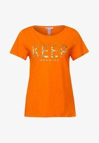 Street One - Print T-shirt - orange - 3