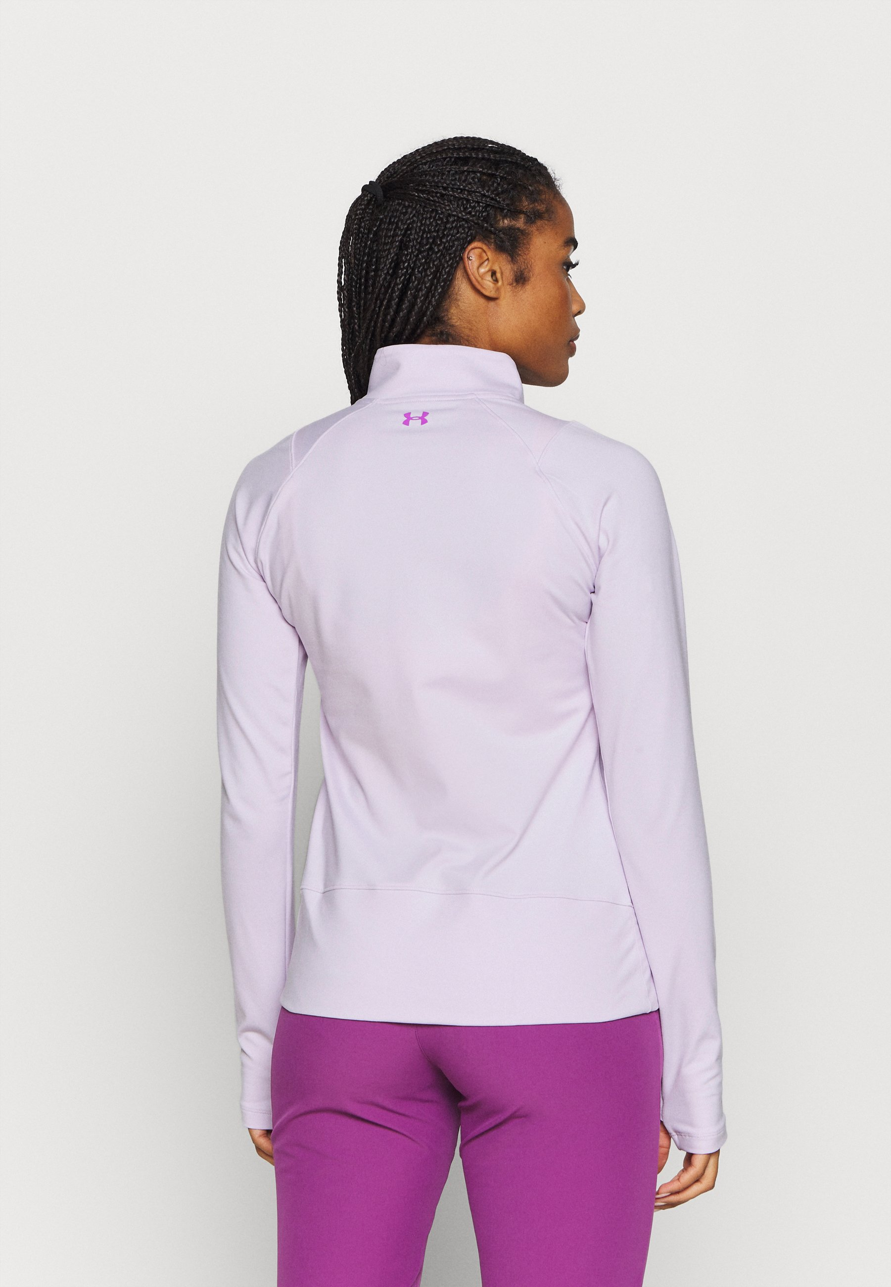 Under Armour STORM MIDLAYER 1/2 ZIP - Long sleeved top - crystal lilac w4fia