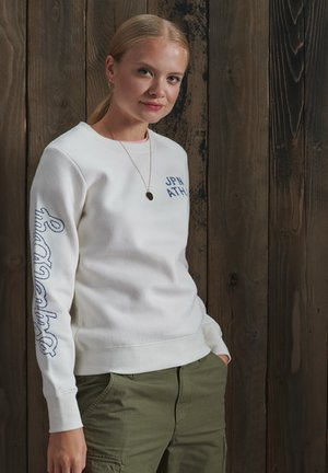 REWORKED CLASSIC EMBROIDERED  - Sweatshirt - ecru