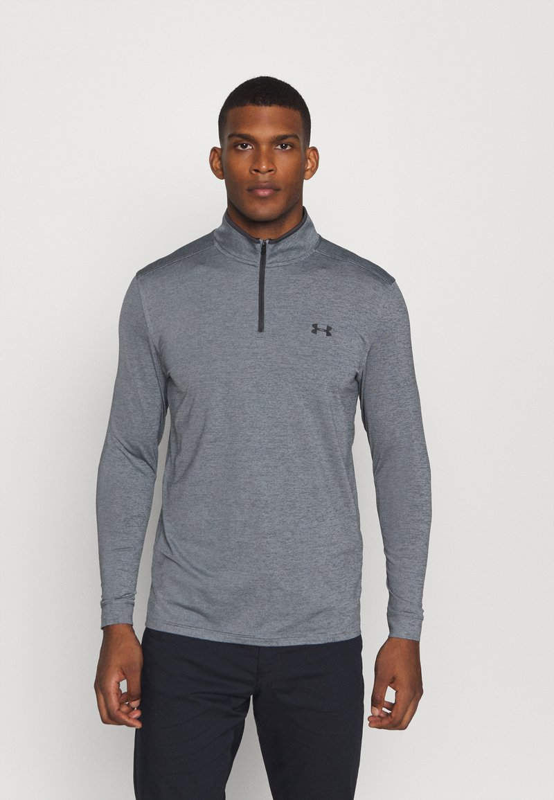 Under Armour - PLAYOFF 1/4 ZIP - Funkční triko - pitch gray