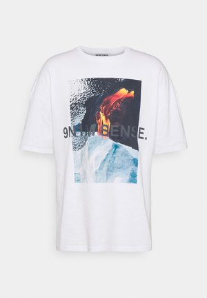 VULKAN UNISEX - T-shirt med print - white