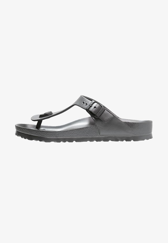 GIZEH - Teenslippers - metallic anthracite