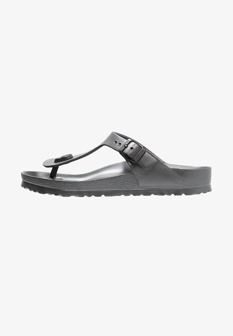 Birkenstock - GIZEH - Pool shoes - metallic anthracite
