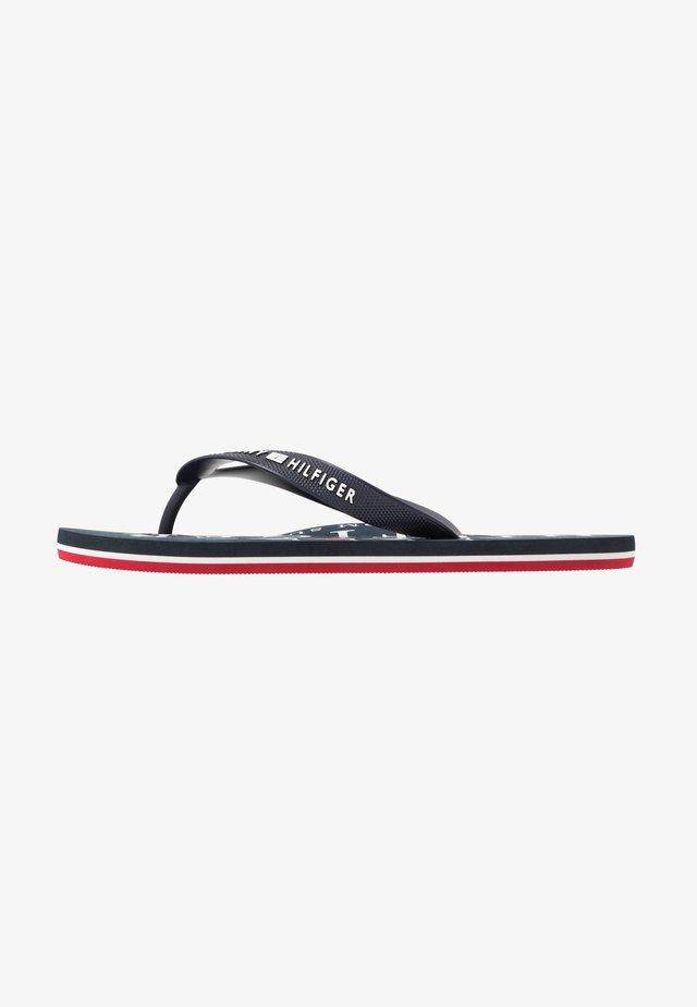 NAUTICAL PRINT BEACH - Pool shoes - blue