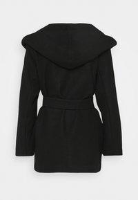 ONLY - ONLTRILLION BELT HOODIE COATIGAN - Short coat - black - 2