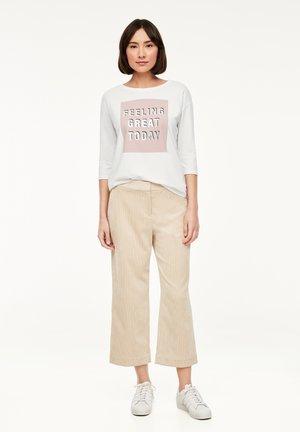 MIT MODISCHEM FRONTPRINT - Long sleeved top - white statement print
