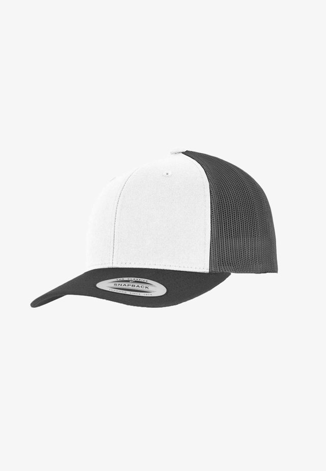 RETRO TRUCKER - Kšiltovka - darkgrey/white