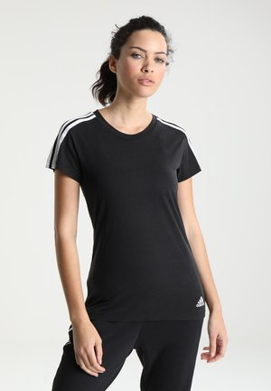 SLIM TEE - T-shirt z nadrukiem - black/white