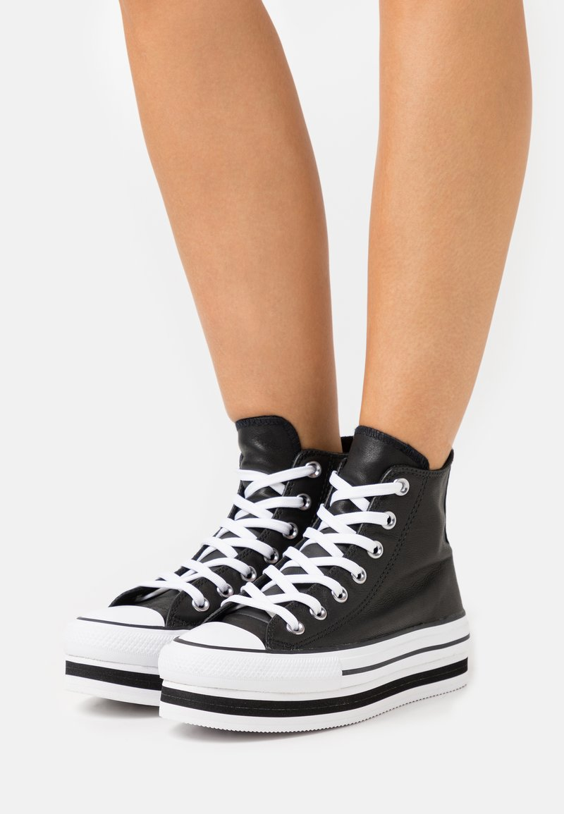 Converse - CHUCK TAYLOR ALL STAR PLATFORM LAYER - Sneakers alte - black/white