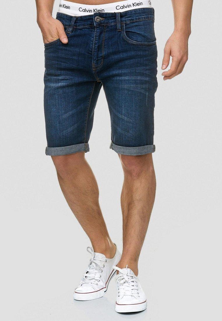 INDICODE JEANS - CUBA CADEN - Denim shorts - blau