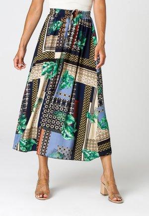 A-line skirt - blau  beige